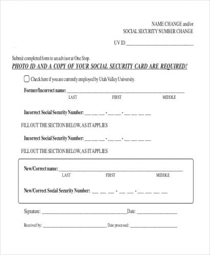 Social-Security-Last-Name-Change-Form - MVDNow