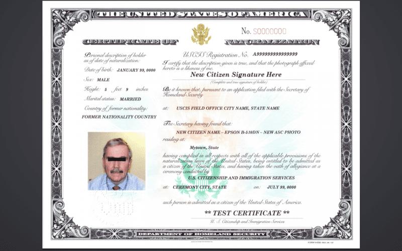 Sample certificate of naturalization mvdnow download sample yadclub Gallery
